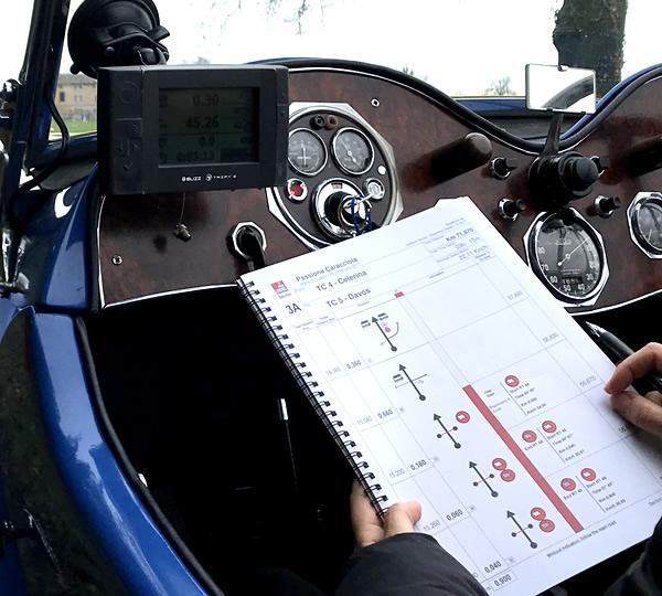 Road book professionale per gare di regolarità
